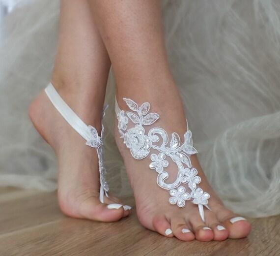 Lace Barefoot Wedding Shoes