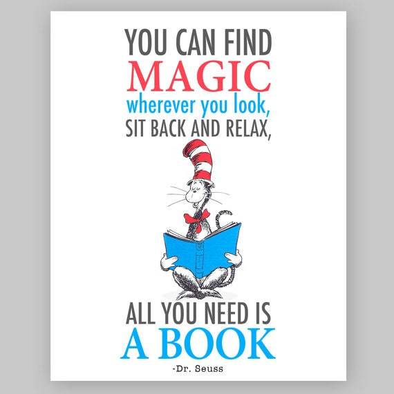 Dr Seuss Quote - Cat in the hat Printable Nursery Quote-You can find ...
