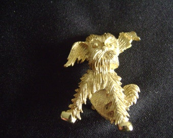 Dog Pin with Floppy Ears Brooch
