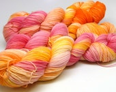 Sherbert -Berry Soft & Strong -SW Merino/Nylon 75/25 4 ply Hand dyed Sock Yarn 100 grams Berry Patch Creations