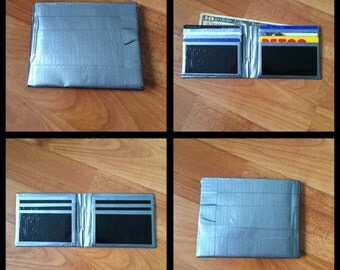 Silver and Black Duct Tape Wallet