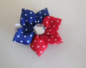Red/White/Blue Flower