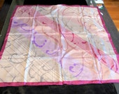 CLEARANCE SALE Pink Silk Scarf Scarves