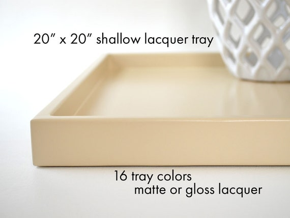 20 x 20 shallow coffee table tray ottoman tray decorative for Shallow coffee table