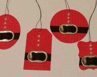 12ct santa suit tag set