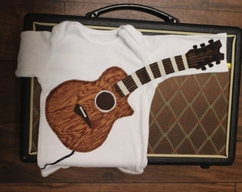 Delightfully Fun Dark Brown Acoustic Guitar Outfit With Gold Strings and Amp