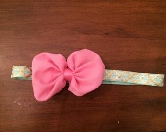 Pink Chiffon Bow