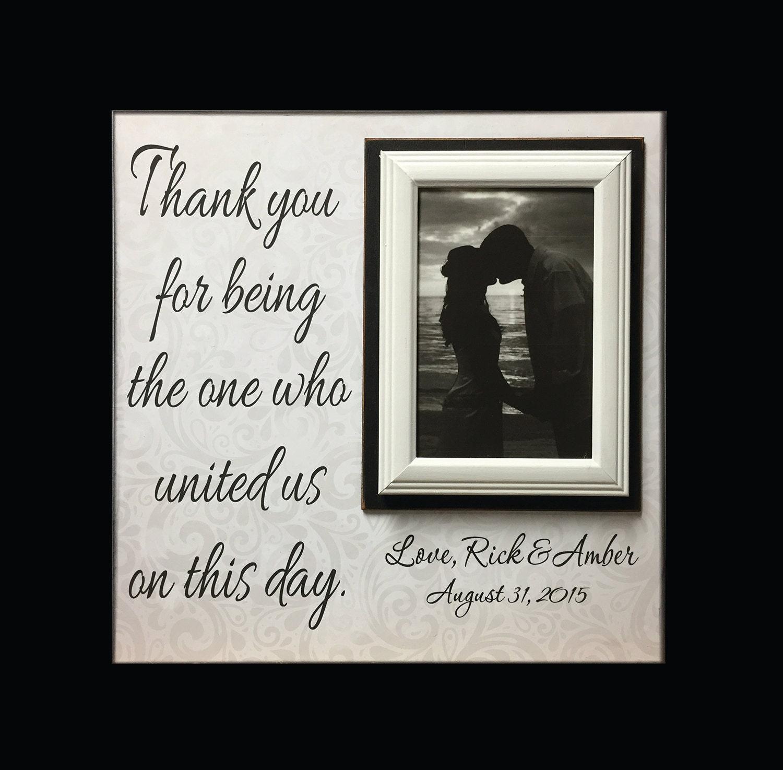 Wedding Officiant Gift Custom Frame Thank You