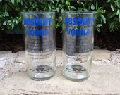 Absolut Vodka Bottle Glasses Set of 2 Tumblers