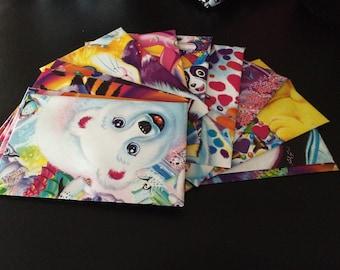 Set of 12 Lisa frank upcycled envelopes stationery