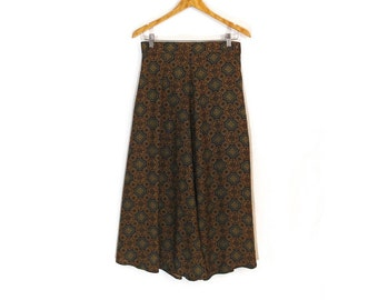 Vintage Baroque Abstract Print High Waisted Maxi Skirt Size 8