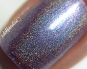 A Whole New World - Modern Day Princess Collection, Purple Holo Nail Polish - 3-free, handmade, cruelty free