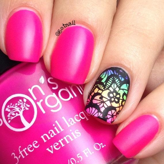 5 Free MATTE Neon Bright Pink Nail Polish