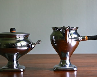 Antique Art Deco Sugar and Creamer Set by Manning and Bowman