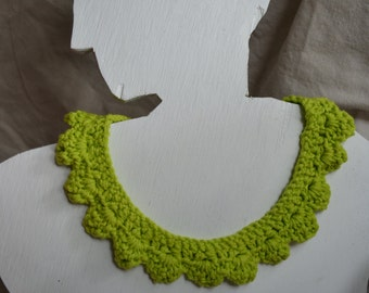 Minimal Lime Green Crochet Necklace