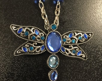 Crystal Dragonfly Necklace