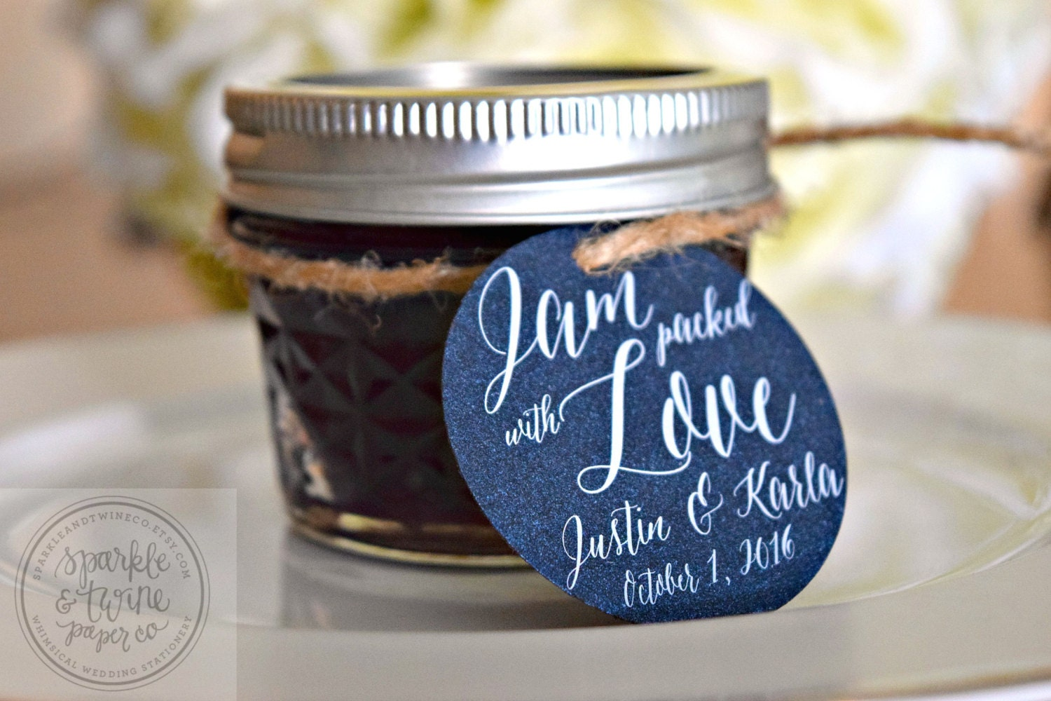 Jam Packed With Love Wedding Favor Tag Jelly By SparkleandTwineCo