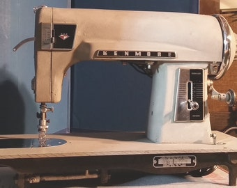 Restored Kenmore 117.580 Vintage Japanese Sewing Machine with Lifetime Guaranty