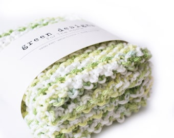 Dish Cloth . Knit Cotton Dish Cloth . Set of Two . Ready to ship