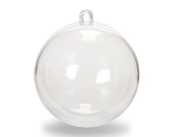 Set of Clear Acrylic Fillable Ball Ornaments Favors Crafts Christmas Ornament Gift Bath Bomb Mold 60mm 80mm 100mm Tree Decoration