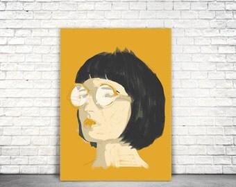 Bob-hair Illustration Poster