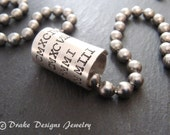 Personalized mens necklace Father's Day gift for dad names dates or Roman numeral necklace sterling silver and stainless steel husband gift