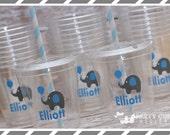 Baby Elephant Party-Personalized Party Favor Cups-Souvenir Cup