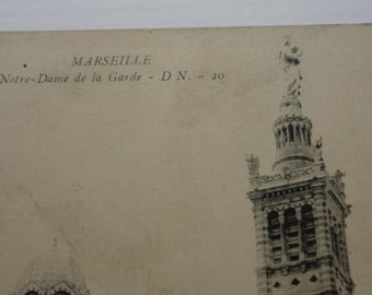 Marseille, Notre-Dame Carte Postale, Antique Postcard, FREE SHIPPING
