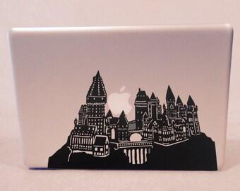 Detailed Hogwarts Silhouette Vinyl Decal