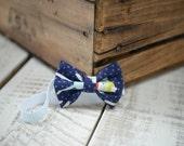 Sock Monkey Chevron Fabric Bow Headband - Newborn - Fabric Headband - Handmade Hair Accessories