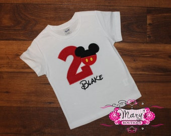 Personalized Mickey Birthday Shirt