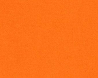 1/2 Yard Kona Cotton Robert Kaufman Solid Fabric in Orange