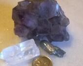 Large Amethyst Crystal Cluster, Large Crystal Quartz Point, Ghost Quartz Point, Destash