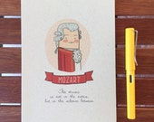 Mozart Notebook (quote, red, gift)