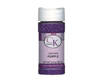 3.2 oz. Purple Jimmies Sprinkles - Cake Decorating Baking Food Craft Party Supplies