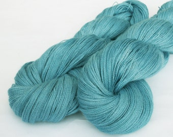 Hand dyed yarn - lace weight Baby Alpaca, silk and cashmere- ocean