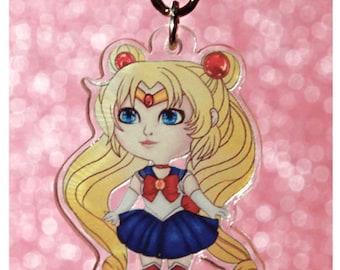 Sailor Moon Clear Acrylic Charm