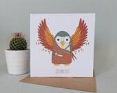 Icowlrus Greetings Card (Icarus)