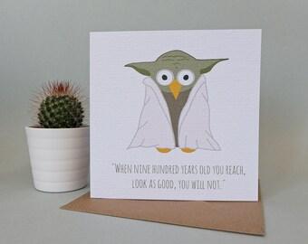 Yoda Owl Card