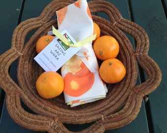CLEMENTINE Kitchen Towel, brightly colored, cotton/linen