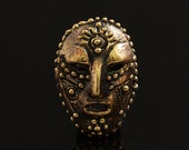Mask Bronze Pendant Findings 2516 Theater Venice Masks