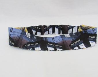 Doctor Who Headband  Reversible Dr Who Tardis Headband  Exploding Tardis Headband  Stocking Stuffers