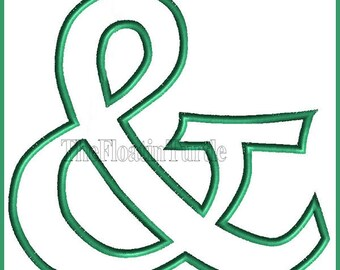 Ampersand Applique Embroidery Design
