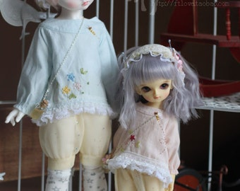 Little Bee  , Dress for MSD/ YOSD Girl in two colors(BJD)