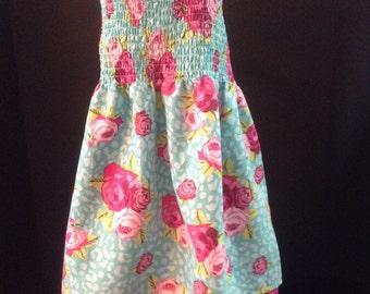 CLEARANCE !!! Girls summer dress, sundress, halter style dress, girls clothing, girls summer dresses