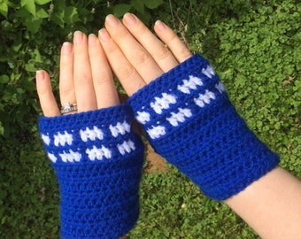 Doctor Who, Tardis Fingerless Gloves