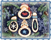 CC129 - What's In My Belly Snowman Ornaments -  Painting E Pattern by Cyndi Combs