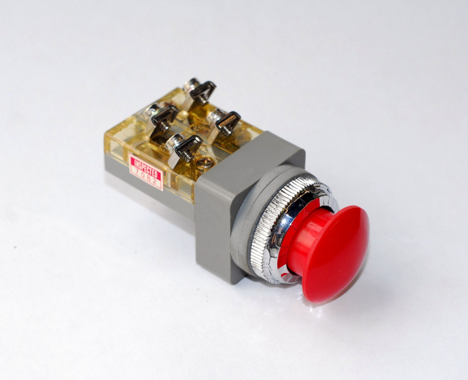 panic button big red push button switch made by alco. Black Bedroom Furniture Sets. Home Design Ideas
