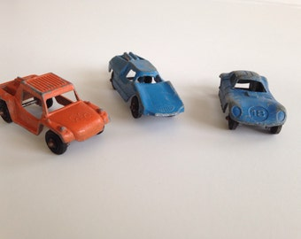 Lot of Vintage Toy Cars Die Cast Metal 1950's