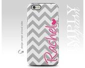 iPhone 6 Case , iPhone 6 Plus Case , iPhone 7 Case , iPhone SE Case , Samsung Galaxy Case , Galaxy S7 Case , Grey Pink Heart monogram
